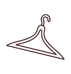 clothes hanger icon image vector image