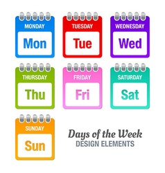 Days of the week vector