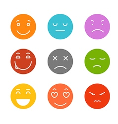 Different schematic face emotions isolated on vector