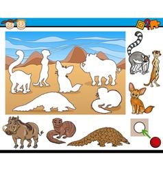 Educational task for preschool kids vector