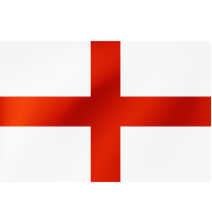 english national flag with beautiful wavy texture vector image
