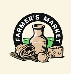 Farmers products vector