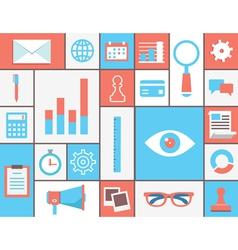 Flat concept web analytics vector