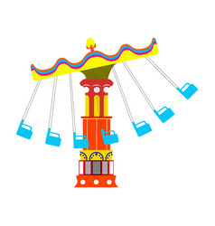 Flying chair ride vector
