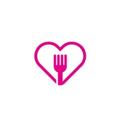 Food love logo icon design vector