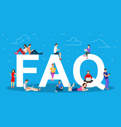 frequently asked questions concept vector image