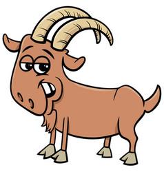 Funny goat farm animal cartoon character vector