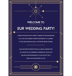 Great Space Inspired Wedding Invitation to the vector
