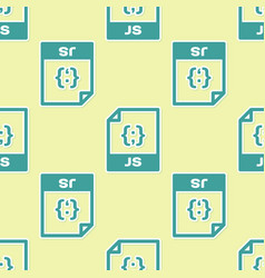Green js file document icon download js button vector