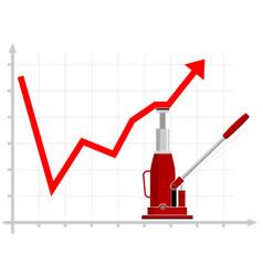 growth financial indicators raising results vector image