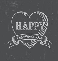 happy valentine day postcard vector image