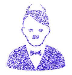 Hitler devil icon grunge watermark vector
