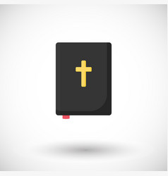 holy bible flat icon vector image