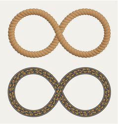 infinity symbol in the form rope and roads vector image