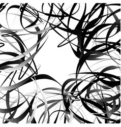 Intersecting random squiggly curvy lines abstract vector