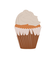 Isolated cupcake image vector