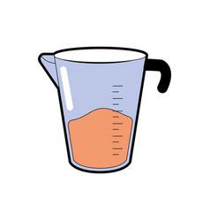 Jar measures kitchen utensil object to cuisine vector