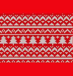 knitted sweater winter pattern vector image
