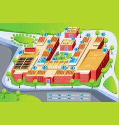 Map of school vector