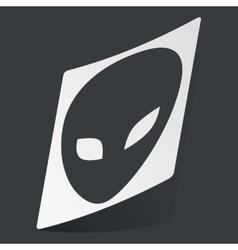 Monochrome alien sticker vector image vector image