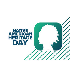 National native american heritage day holiday vector
