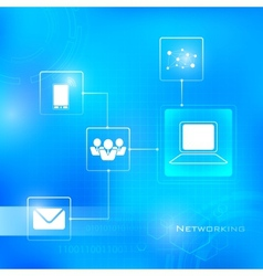 Networking Technology Background vector image