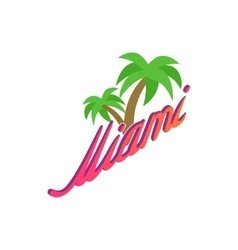Palm trees Miami icon isometric 3d style vector image