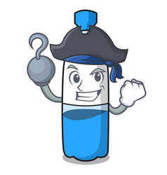Pirate water bottle character cartoon vector