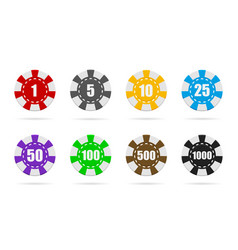 poker chip casino token or coin isolated vector image