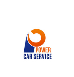power car service badge vector image