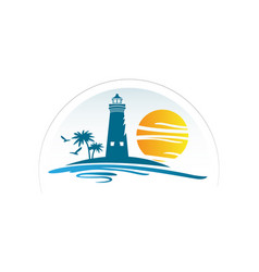 Real estate with summer vibes and sun logo vector