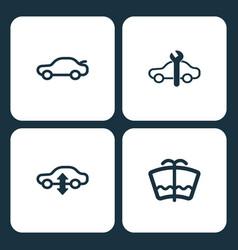 Set car dashboard icons vector