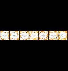 Set of square frames vector