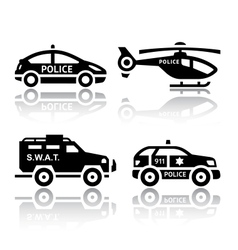 Set of transport icons - Police part 2 vector image