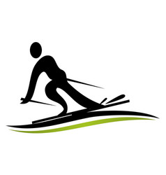 ski logo design template vector image