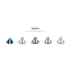 Stealth icon in different style two colored vector
