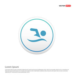 swimming icon hexa white background icon template vector image