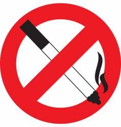 symbol no smoking vector image