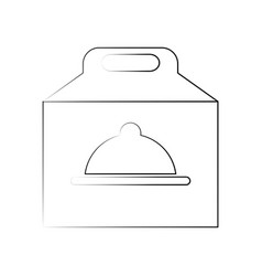 Takeout box fast food icon imag vector