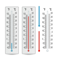 Thermometer outdoor indoor alcohol vector