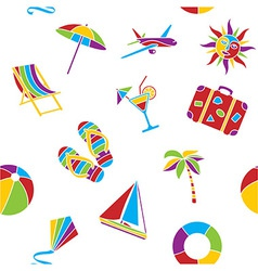 Vacation seamless pattern vector