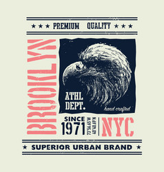 Vintage urban typography with eagle head vector