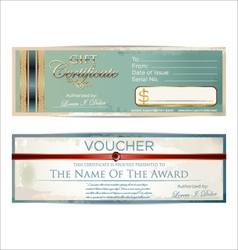 Voucher template vector image