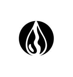 water drop black n color logos vector image