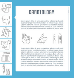 Website banner and landing page cardiology vector