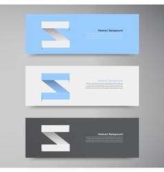 Banner Design template label arrow vector image