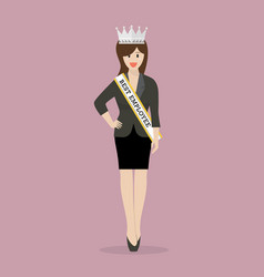 best employee woman vector image vector image