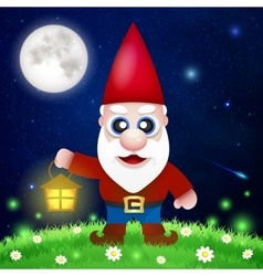 Cute Cartoon Garden Gnomes vector image vector image