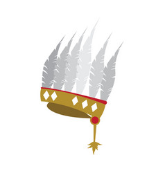 feather hat icon vector image