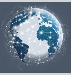 globe digital connection digital communications vector image